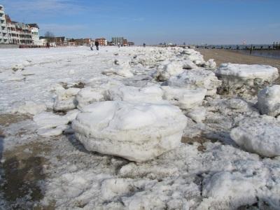 Eis Schnee Strand