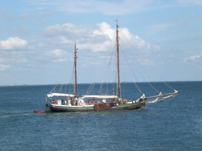 Historischer Segler Wattenmeer