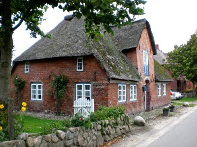 Reetdach Haus Nieblum