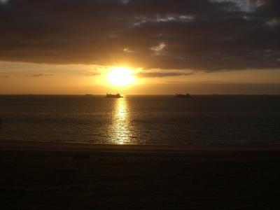 Schiffe Sonnenaufgang