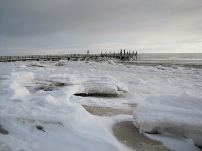 Seglerbruecke Wyk Föhr Winter