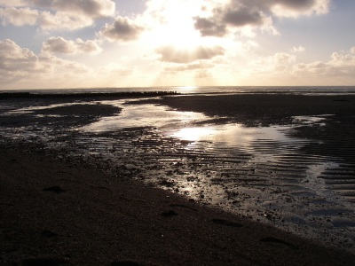 watt strand abend sonnenuntergang